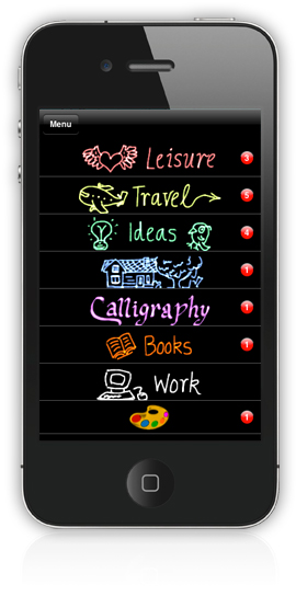 make lists on iphone